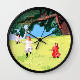 The little house on the prairie with Ingalls sisters Wall Clock