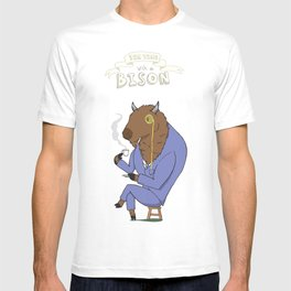 Tea Time with a Bison T-shirt