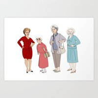 golden girls Art Prints featuring Golden Girls by Barsha Dahal