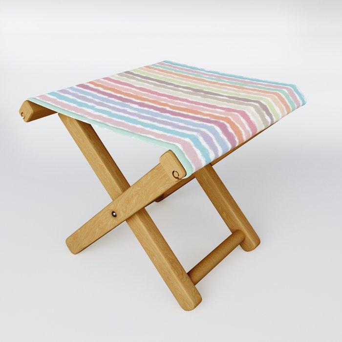 Pastel Stripes Folding Stool