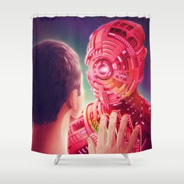 Interface Shower Curtain