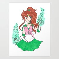 sailor jupiter Art Prints featuring Sailor Jupiter by StarShineSoldier