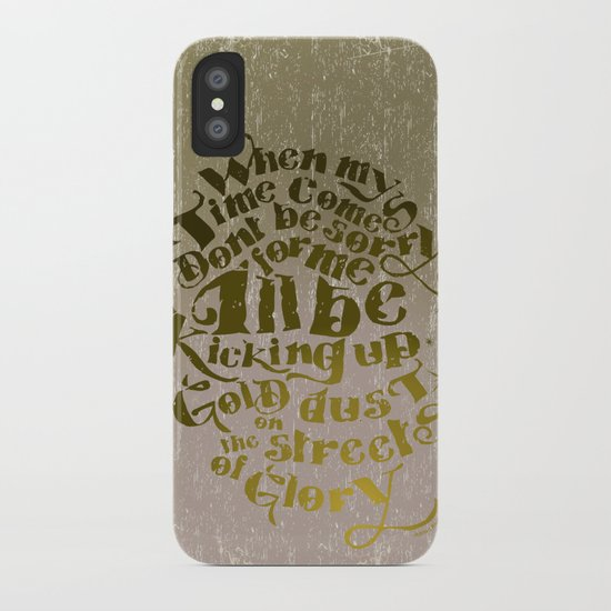 Kicking up gold dust on the streets of glory iPhone Case