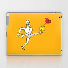 Mad Man Kicking a Heart Laptop & iPad Skin