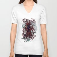 cthulu V-neck T-shirts featuring Cthulu by Sybille Sterk