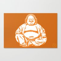 buddah Canvas Prints featuring Buddah Beats by ALLGOLD Creative