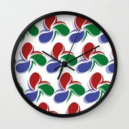 Colorful Stylish Retro Water Drops Patterns Gift Idea Wall Clock