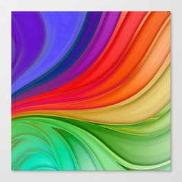 Abstract Rainbow Background Canvas Print
