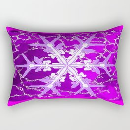 Amethyst Snowflake Abstract for February Babies Rectangular Pillow