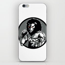 lion man MMA fighter pose iPhone Skin