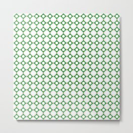 Green oriental pattern - seamless orient design Metal Print