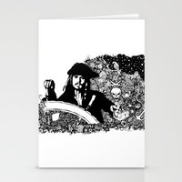 jack sparrow Stationery Cards featuring Jack Sparrow by Ink Tales