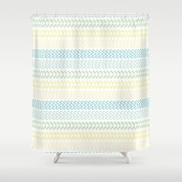 knit Shower Curtains featuring Knit 2 by K&C Design