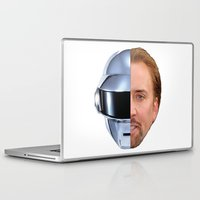 nicolas cage Laptop & iPad Skins featuring Daft Cage by Jared Cady