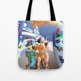 Boat Show Illustration Tote Bag