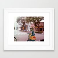 flcl Framed Art Prints featuring haruko (FLCL) (St.petersburg FL) by Jackobi Austin