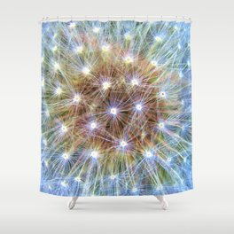 Luminous Colorful Blowball Shower Curtain