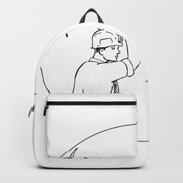 Bitcoin Miner Cryptocurrency Drawing Backpack