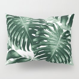 Tropical Monstera Jungle Leaves Pattern #1 #tropical #decor #art #society6 Pillow Sham