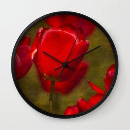 Springing Up Tulips Wall Clock