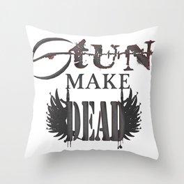 stun make Throw Pillow