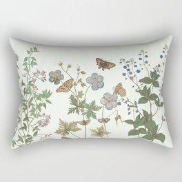 The fragility of living - botanical illustration Rectangular Pillow