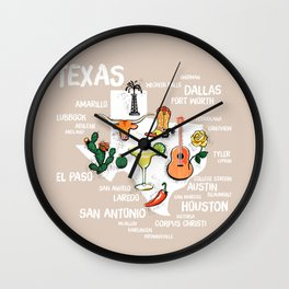 Classic Texas Icons Wall Clock