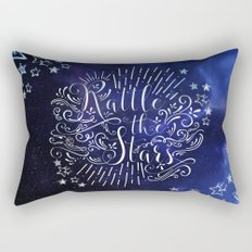 Rattle The Stars - Blue Rectangular Pillow