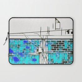blue brick building Laptop Sleeve
