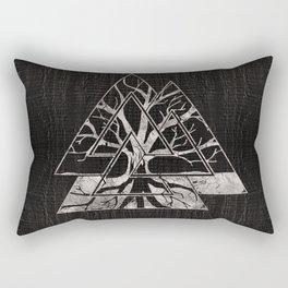 Valknut Symbol and Tree of life  -Yggdrasil Rectangular Pillow