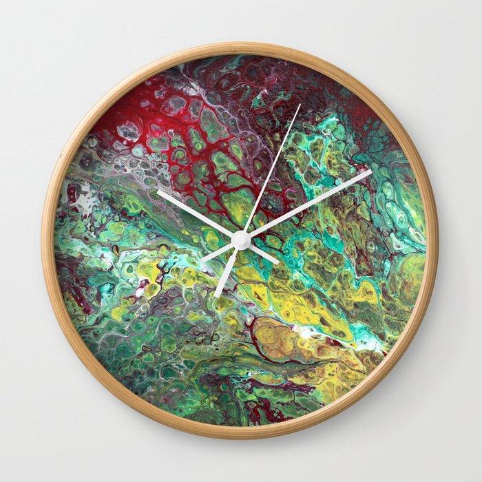 Tears Of Jamila 12 X 12 Acrylic On Canvas Wall Clock By Kiwitree Society6