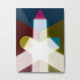 Known or unknown (square, equilateral triangle, circle) Metal Print