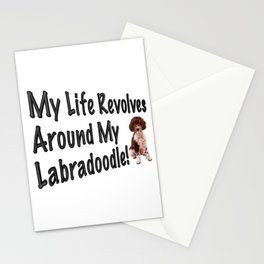 My Life Revolves Around My Labradoodle! Stationery Cards