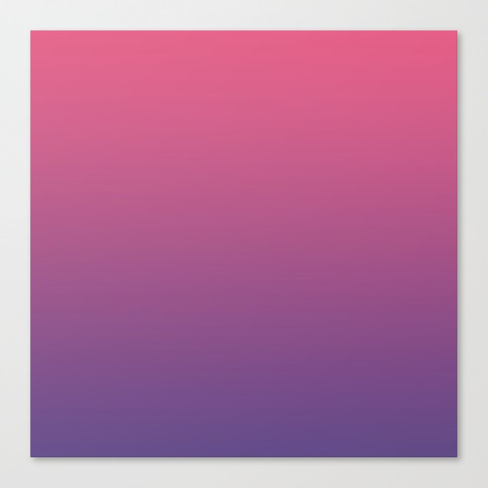 Bright Pink Ultra Violet Grant Pantone Color Of The Year 2018 Canvas Print