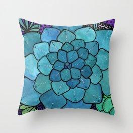 Succulent Sunset Throw Pillow