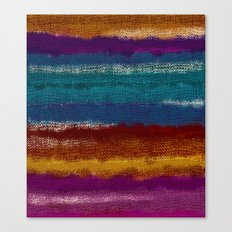 Knit stripes Canvas Print