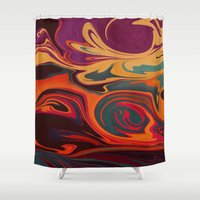 dc Shower Curtains featuring DC by Shelly Bremmer