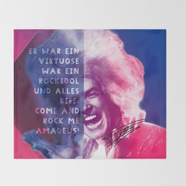 Rock Me Amadeus Throw Blanket