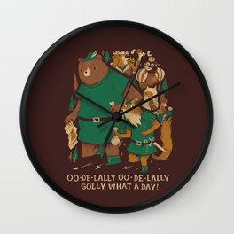 oo-de-lally (brown version) Wall Clock