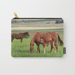Horse Family Carry-All Pouch