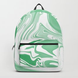 Green Abstract Ink Backpack