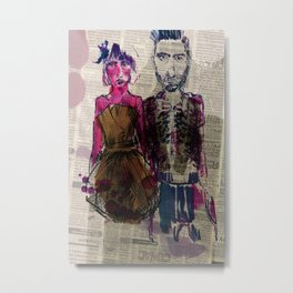 AA Couple Metal Print