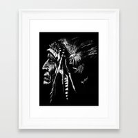 native american Framed Art Prints featuring Native American by Sandy Elizabeth