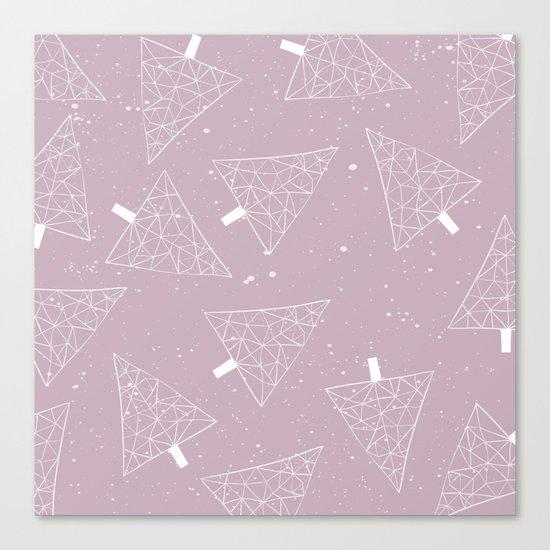 Christmas Trees Pink Canvas Print