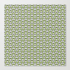 Stormtroopers on Pea Green Canvas Print