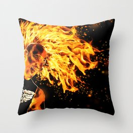 I am the Fire Starter. Throw Pillow