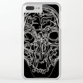 REAL SKULL SCAN Clear iPhone Case