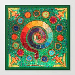 Peyote Serpent Ritual Canvas Print