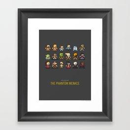 Mega Star Wars: Episode I - The Phantom Menace Framed Art Print