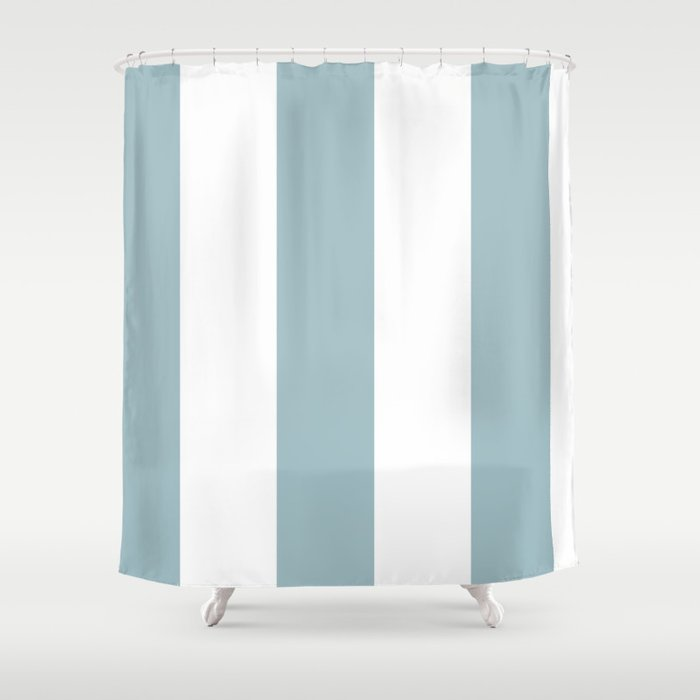 5th Avenue Stripe No 3 In Robins Egg Blue And White Onyx Shower